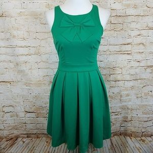 Lauren Conrad | green midi bow dress 10